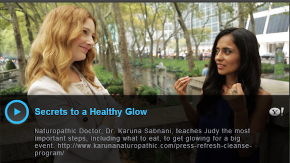 Dr. Karuna Sabnani and Judy Greer on Yahoo Reluctantly Healthy
